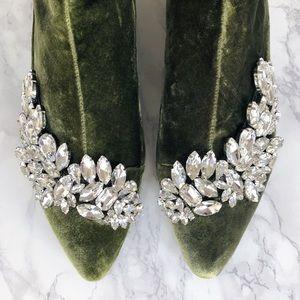 Zara embellished velvet boots